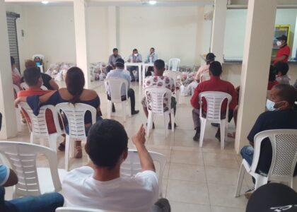ENTREGA DE CANASTAS DE VIVERES  A  SINDICATO DE TRABAJADORES EMPRESA DOLE-PROVINCIA DE LOS RIOS